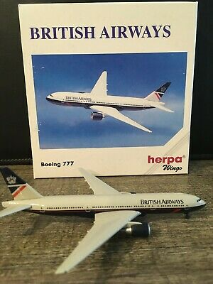 $14.99 • Buy British Airways (Landor) Boeing 777-200 Herpa Wings 1:500 Diecast Model Airplane