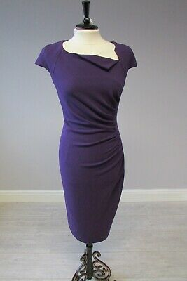 AU71.44 • Buy LK Bennett Classic Davina Pencil Dress  Purple Size 14 Fully Lined