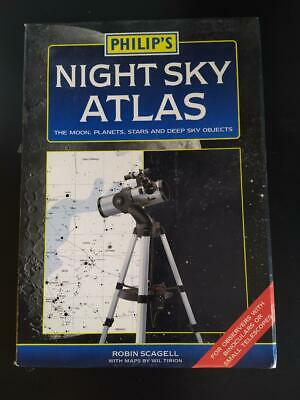 Philip's Night Sky Atlas: The Moon, Planets, Stars And Deep Sky Objects By Robin • 9.99£