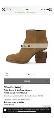 AU150.86 • Buy GUC ALEXANDER WANG Gabi Suede Ankle Boots Shoes, Size 38.5 8 8.5