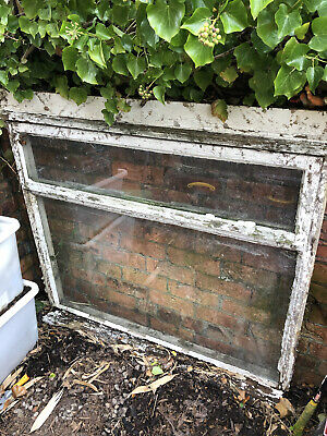 Window And Frame Wooden Allotment Shed Garage Open Top Latch Resto • 10£