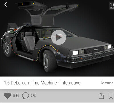 Veve NFT Back To The Future Deloren Common 3D Digital Collectible Interactive • 59£