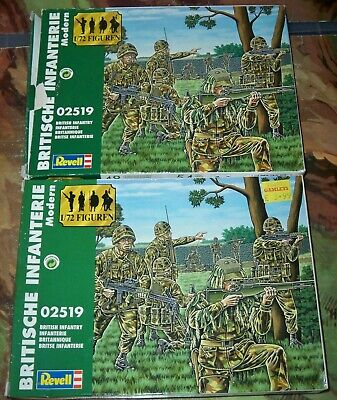 2 Revell Boxed 1:72 Scale WWII Soldiers 02519 British Infantry With 48 Each Box • 14.75£