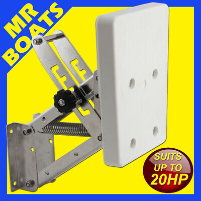 AU110 • Buy White Auxilary Outboard Bracket - Stainless Steel -motors Upto 20hp Or 55kgs