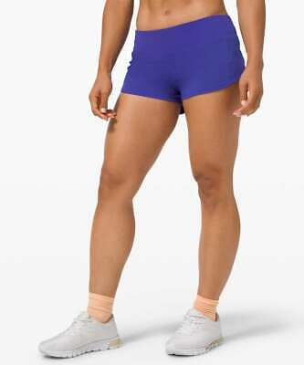 "$ CDN80 • Buy SEAWHEEZE 2020 New Lululemon Speed Up Shorts 2.5"" Size 12 Lazurite Blue Purple"