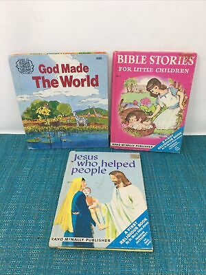 £9.94 • Buy 3 Childrens Books- God Made The World, Bible Stories, Jesus Who Helped People