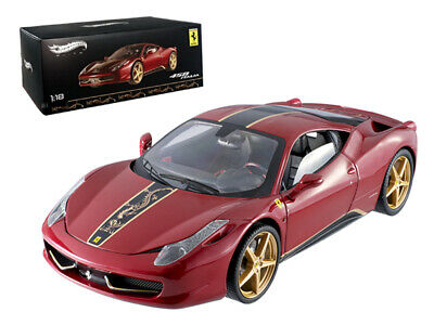 Ferrari 458 Italia Elite China Edition 1/18 Diecast Car Model By Hotwheels • 117.88£