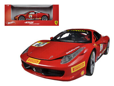 Ferrari 458 Challenge Red #12 1/18 Diecast Car Model By Hotwheels • 59.58£