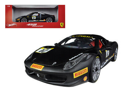 Ferrari 458 Challenge Matt Black #12 1/18 Diecast Car Model By Hotwheels • 59.58£