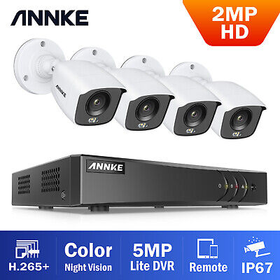 AU199.99 • Buy ANNKE 8CH 5MP Lite DVR 1080P Full Color Day Night CCTV Security Camera System
