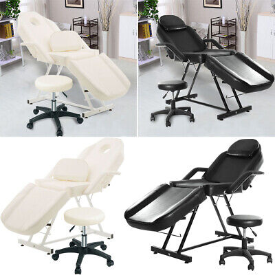 £195.95 • Buy Hydraulic Beauty Salon Bed Massage Table Tattoo Facial Spa Treatment Couch Chair