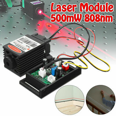 £18.99 • Buy Focusable Red 500mw 808nm Infrared IR Laser Diode Dot Module 12V+TTL+Fan Cooling