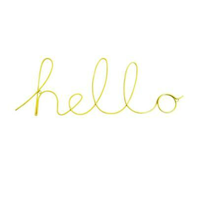 £12.50 • Buy Word Sign Wire Wall Decoration Plaque - Hello – Yellow – Bombay Duck
