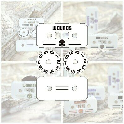 £17.01 • Buy Wargame Base World - Wound Counter/Tracker/Dial/Marker 00-99 Wound Counter - 4