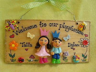 3d Personalised 2 Character Playhouse Wendy House Treehouse Sign Shed Allotment • 9.50£