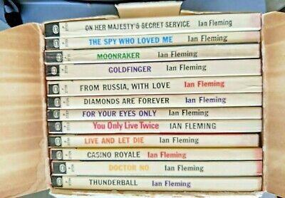 $150 • Buy SIGNET 1960s James Bond 007 Box Set 12 PB Books Ian Fleming