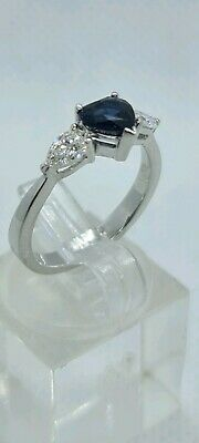 AU3400 • Buy 18ct White Gold Diamond & Sapphire Ring With Valuation Certificate