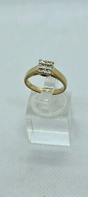 AU700 • Buy 9kt Yellow Gold & Diamond Ring With Valuation Certificate