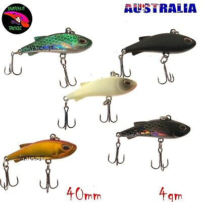 AU12.50 • Buy Bream Fishing Lures Vibe 5 Pack Tackle Saltwater Bass Whiting Flathead Cod Lure