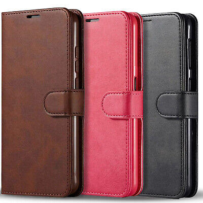 $ CDN13.83 • Buy For Samsung Galaxy S8 /S8 Plus Case, Wallet Kickstand + Tempered Glass Protector