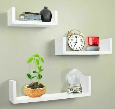 £7.98 • Buy Set Of 3 Floating Wall Shelves Hanging Storage Display Shelf Wall Mounted Décor