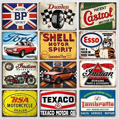 £4.99 • Buy Metal Wall Signs Plaques Garage Mancave Vintage Retro Style Shed Car Shell Bike