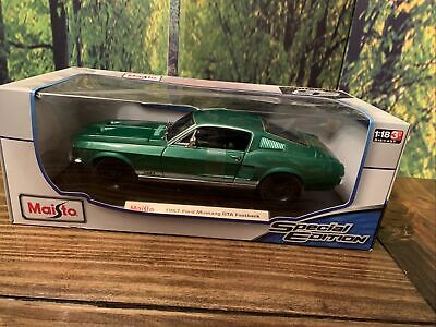 $45 • Buy Maisto 1967 Mustang Gta Fastback 1:18 Scale Replica Special Edition Green New