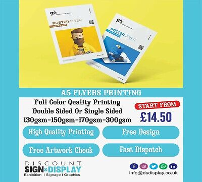 £129 • Buy Cheap A5 Flyers Full Colour Printing 130-170 Gsm Single/Double Sided