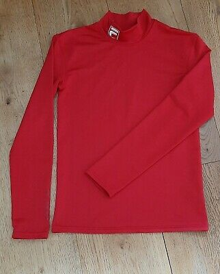 £13 • Buy UK Kids 9/10Y Chest 28  FILA COLD Sport's Cold Weather Base Layer Roll Neck Red