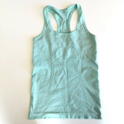 $ CDN22.50 • Buy Lululemon Swiftly Racerback Tank Size 4 Green Seafoam Exercise Top Lightweight