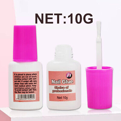 £2.29 • Buy Nail Glue With Brush 8g 💖 EXTRA STRONG 💖 Professional False Tip Quick 💖 UK