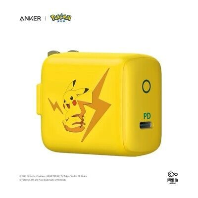 AU83.82 • Buy Anker X Pikachu PowerPort III Mini Pokemon Edition Power Charger USB-C Official