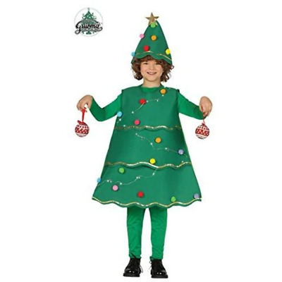 Guirca Christmas Tree Costume With Lights 7-9 Years, Multi-Colour • 9.15£