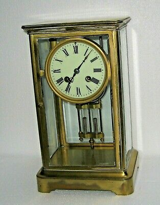 AU384.47 • Buy Antique Japy Frere French Brass Chime Clock Crystal Regulator 8 Day Working