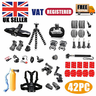 £12.79 • Buy 42PC Action Camera Accessories For GoPro Hero Video Cam Strap Mount Tripod Set