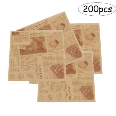 £7.51 • Buy 200pcs Sandwich Wrap Parchment Paper Food Wrapping Grease Resistant Separate