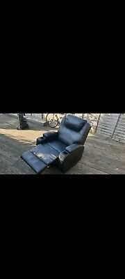 Recliner Armchair Leather Sofa Single Padded Seat Family Cinema Home Leg Rest   • 100£