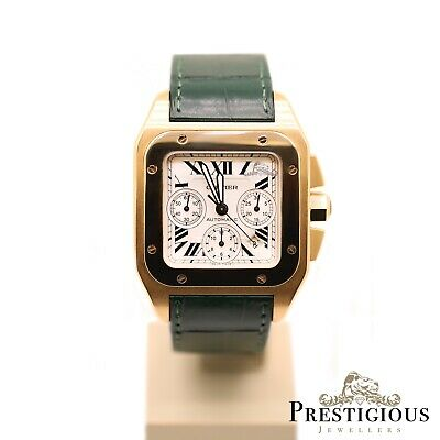 £19995 • Buy Cartier Santos Rose Gold 100XL W20131Y1 Chronograph Limited Ed Box & Papers