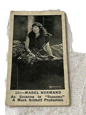 """$25 • Buy Original Mabel Normand """"strollers Cigarettes"""" Tobacco Trading Card"""