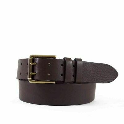 $25 • Buy Men's Brown Double Prong Leather Jeans Belt