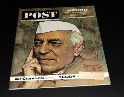 $ CDN10 • Buy Saturday Evening Post January 19 Th 1963 India's Nehru / Norman Rockwell