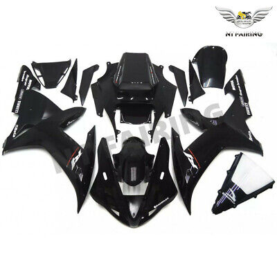 $499.99 • Buy WOO Fit For Yamaha R1 YZF 2002-2003 Glossy Black Injection ABS Fairing Kits E048