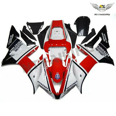 $489.99 • Buy WOO Fit For Yamaha R1 YZF 2002-2003 Red White Injection Mold Fairing Kit E028
