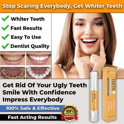 AU14.95 • Buy #1 New Safe Teeth Whitening Pen White Tooth Kit Strips Tools Gel Fast Acting