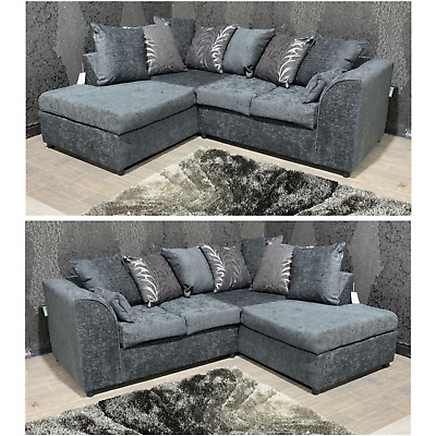 £439 • Buy SALE Zina New Dylan Milo- Grey Corner Sofa Left Hand Or Right Hand ASAP Delivery