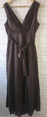 £35 • Buy Mexx UK 12 Stunning Brown Latte Belted Maxi Dress Party Wedding Occasion
