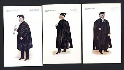 £8 • Buy C1912-20 7 Col Postcards - Oxford & Cambridge University Robes - All Different