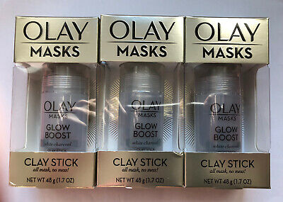 Olay Masks, Clay Stick Mask, White Charcoal 48g (3 Packs) • 2.49£