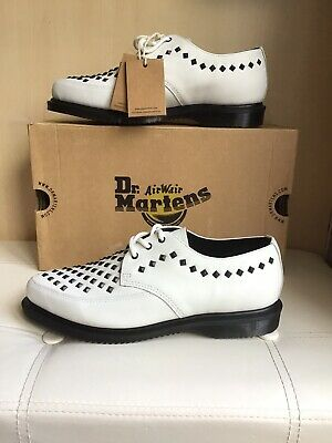 £79 • Buy Dr Martens White Smooth Leather Willis Stud Creepers UK7 EU 41 BNIB RRP £140.00