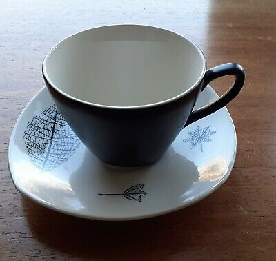 £13.99 • Buy MIDWINTER Coffee Cup & Saucer NATURE STUDY By Terence Conran 1955